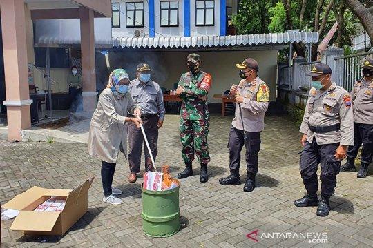 KPU Kabupaten Malang musnahkan surat suara rusak dan berlebih