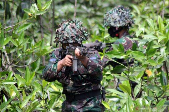 Latihan tempur Pasmar 3 Papua Barat