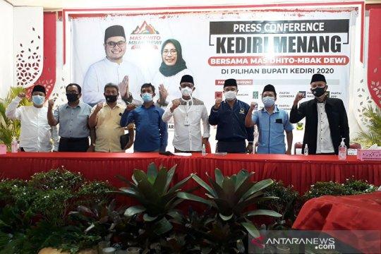 Paslon tunggal di Kabupaten Kediri klaim menang 76,58 persen