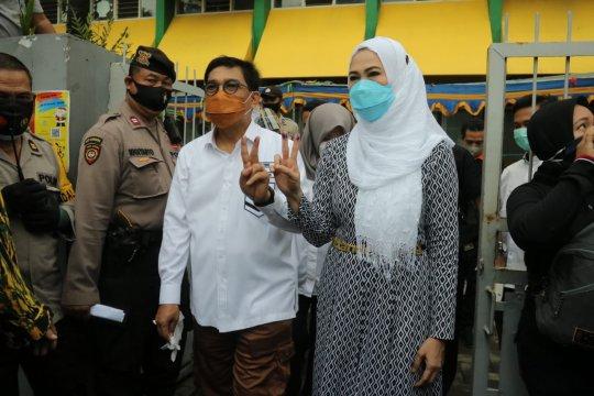 Erji unggul di TPS tempat Cawali Surabaya Machfud Arifin mencoblos