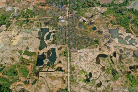 Bekas tambang emas ilegal di kawasan ekosistem Leuser