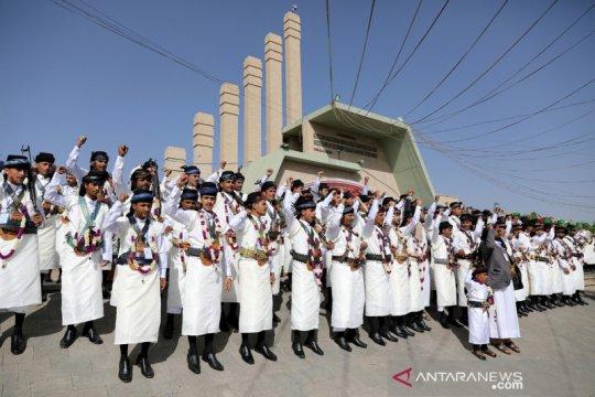 Pernikahan massal di Yaman saat pandemi COVID-19
