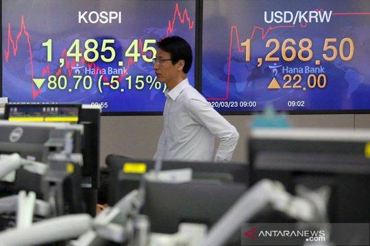 Saham Korea Selatan berakhir lebih rendah