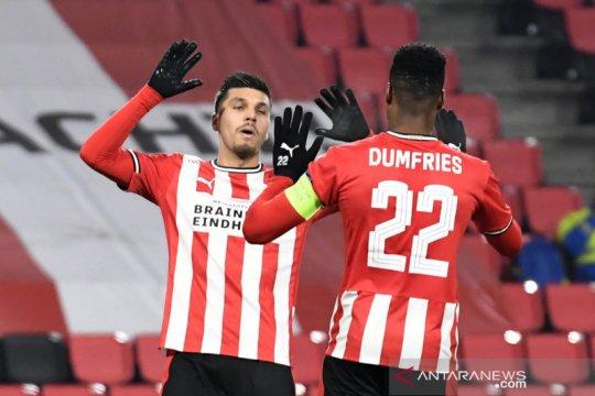 PSV kunci puncak Grup E Liga Europa setelah gulung AC Omonia 4-0