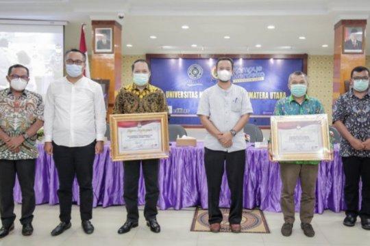 KPU Sumut beri penghargaan kepada UMSU