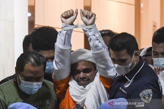 Rizieq Shihab ditahan di sel terpisah dari tahanan lain