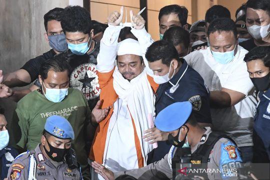 Rizieq Shihab ditahan polisi