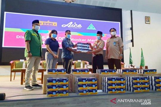 Pemkab Bogor terima 150 ribu masker dari Aice dan GP Ansor