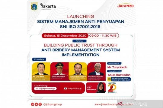 Jakpro terima sertifikasi Sistem Manajemen Anti Penyuapan