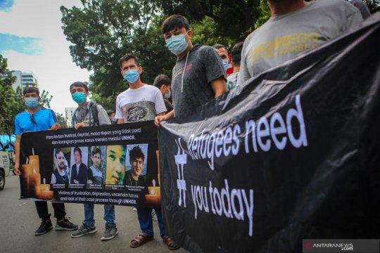 Aksi unjuk rasa pencari suaka