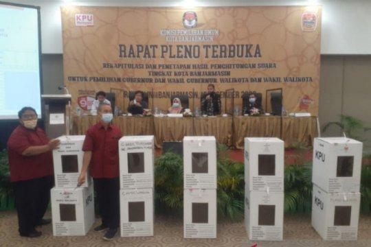 KPU Banjarmasin tetapkan Ibnu-Arifin peroleh suara tertinggi