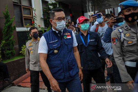 Gubernur Ridwan Kamil penuhi panggilan Polda Jabar terkait Megamendung