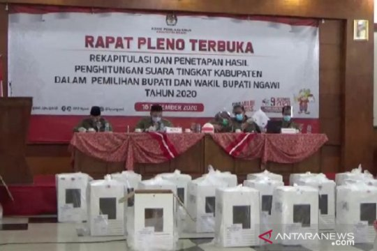 Pasangan Ony-Antok unggul 94,42 persen di Pilkada Ngawi 2020