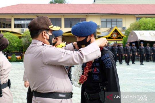 Pilkada Kalsel berakhir aman pasukan Brimob Kalimantan Tengah kembali