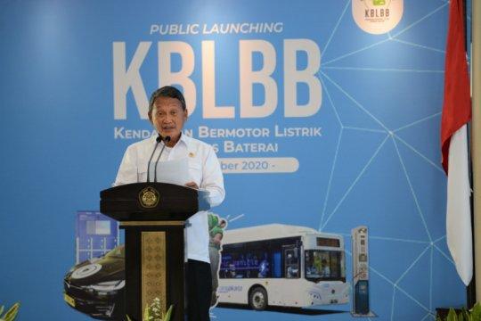 Pemerintah lakukan public launcing kendaraan listrik berbasis baterai