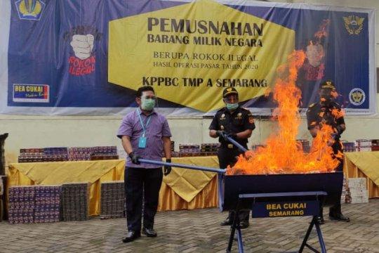 Bea Cukai Semarang musnahkan ratusan ribu rokok ilegal
