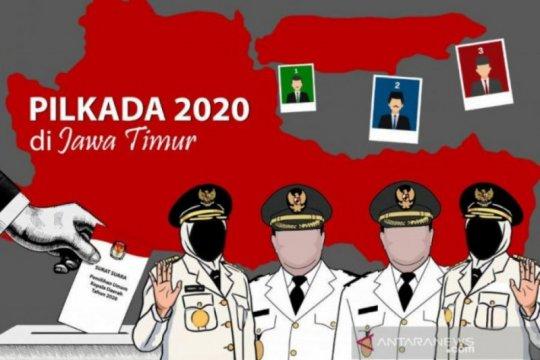 KPU Jatim sampaikan rekapitulasi perolehan suara Pilkada 2020