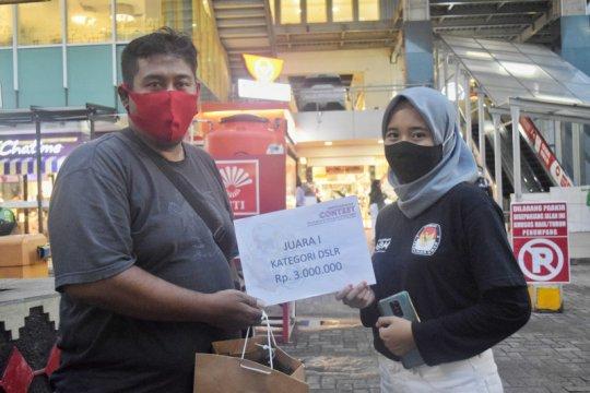 Pewarta foto LKBN ANTARA Lampung raih juara pertama lomba foto KPU