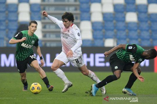 Liga Italia : AC Milan amankan posisi di puncak klasemen usai kalahkan Sassuolo