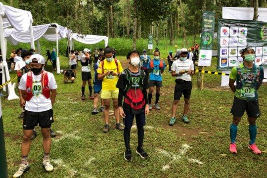 Rudi Febriady juarai lomba trail running simulasi protokol COVID-19
