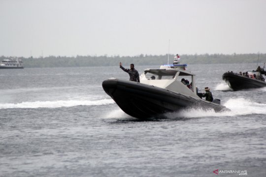 Satkopaska Koarmada III uji coba senjata mesin