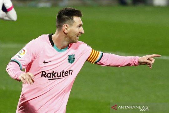 Messi resmi lewati rekor Pele saat bantu Barcelona gulung Valladolid