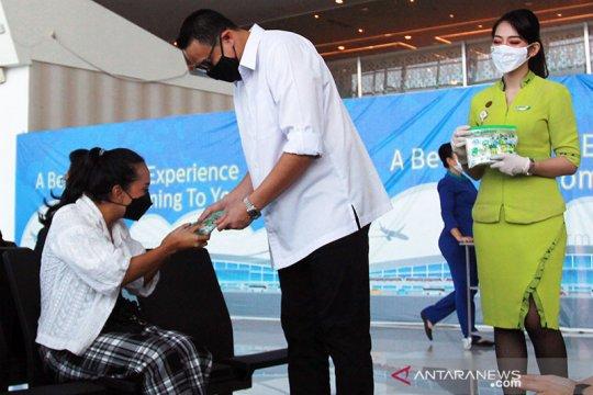 Maskapai Citilink bekali penumpang vitamin dan hand sanitizer