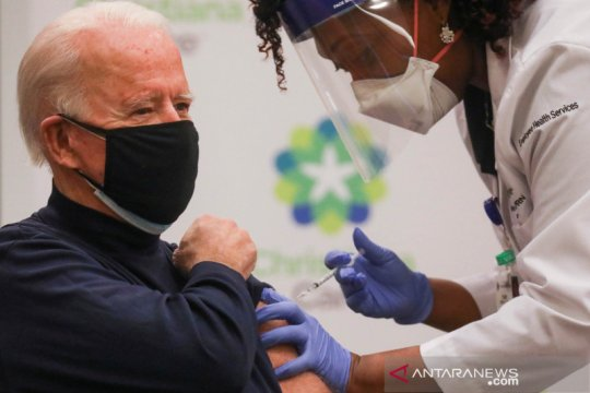 Presiden terpilih Biden terima dosis kedua vaksin COVID-19 Pfizer