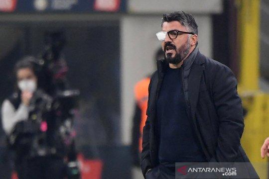 Performa Napoli turun, Gattuso salahkan penyakit matanya