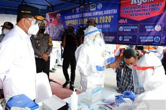 Menhub tinjau penerapan rapid antigen di Terminal Kampung Rambutan