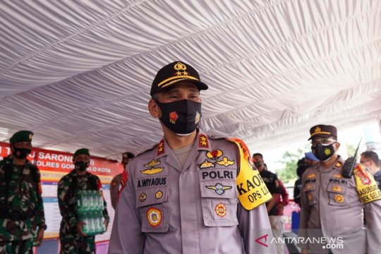 Kapolda Gorontalo cek penerapan prokes gereja jelang Natal