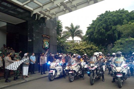 Pengamanan Natal, Polda Metro-Kodam Jaya gelar patroli berskala besar