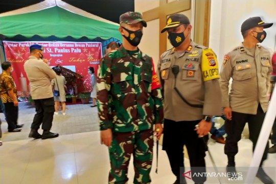 Sekitar 500 polisi jaga kebaktian dan misa Natal di Palu