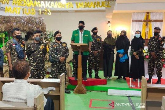 Banser NU ikut pengamanan perayaan Natal di gereja Kota Kendari