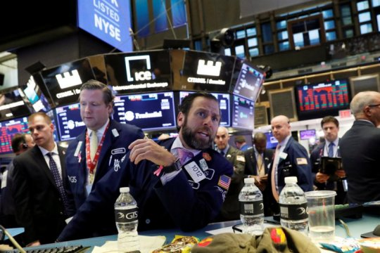 Wall Street naik tipis, didukung kesepakatan Brexit, harapan stimulus