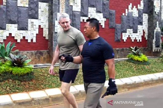 Kasad olahraga bareng jenderal AS di Mabesad