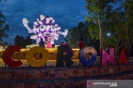 Tugu Virus Corona, daya tarik baru objek wisata di Pekanbaru