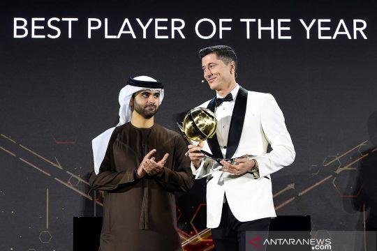 Robert Lewandowski raih penghargaan pemain terbaik 2020 Globe Soccer Awards