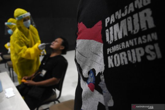 KPK gelar tes cepat antigen untuk wartawan