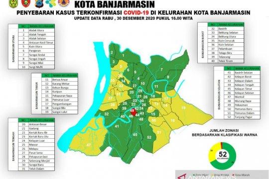 Zona merah di Banjarmasin tinggal satu kelurahan jelang akhir tahun