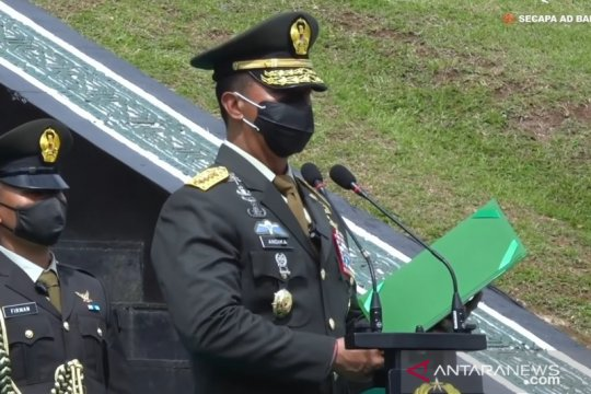 Jenderal TNI Andika Perkasa lantik 583 perwira jajaran TNI AD