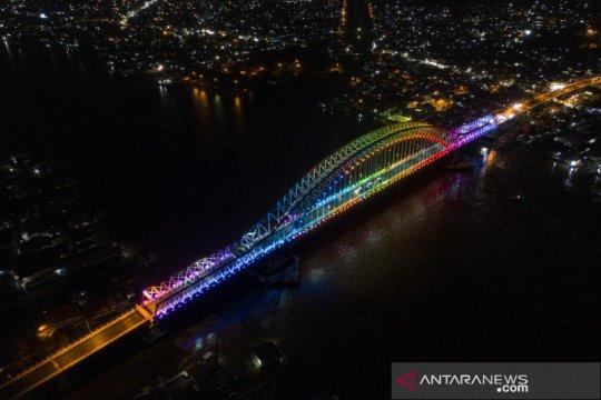 Jembatan Musi VI di Palembang masih uji coba