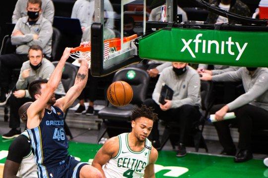 Grayson Allen alami cedera saat laga Grizzlies lawan Boston Celtics