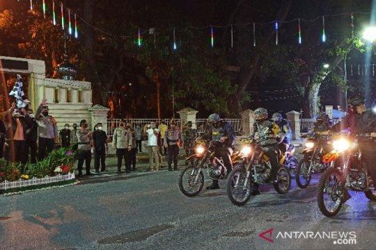 Tim gabungan patroli skala besar di malam pergantian tahun di Medan