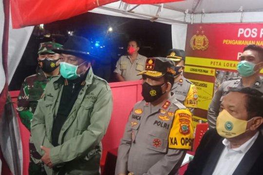 Gubernur Sulut dan Kapolda pantau pos pengamanan pergantian tahun