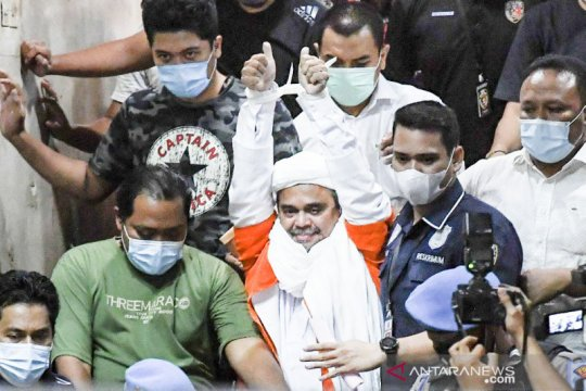 Sidang perdana Rizieq Shihab digelar virtual di PN Jakarta Timur