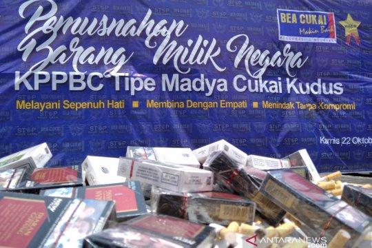 KPPBC Kudus mengungkap 79 kasus pelanggaran pita cukai rokok