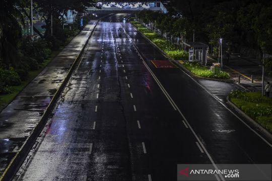 Keheningan malam pergantian tahun di Jakarta