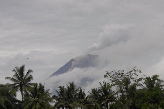 Gunung Semeru masih luncurkan lava pijar & guguran awan panas
