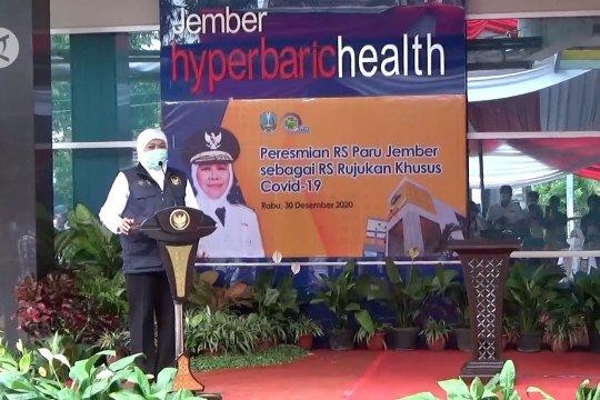 Gubernur Jatim resmikan RS Paru Jember khusus tangani COVID-19